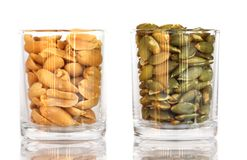 Peanuts and Sunflower seeds Stock Photo