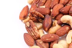 Peanuts Trail Mix Background Stock Photography