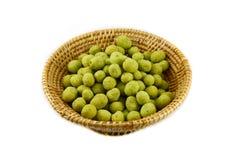 Peanuts wasabi on basket Stock Photo