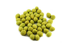 Peanuts wasabi on plate Royalty Free Stock Photo