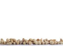 Peanuts on white Stock Photos