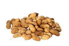 Peanuts on white Royalty Free Stock Images