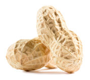 Peanuts  on the white background Stock Photo