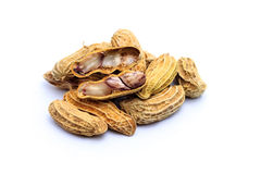 Peanuts on white background Royalty Free Stock Images