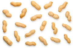 Peanuts on White Background royalty free stock photo