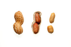 Peanuts on the white background. Photography of Peanuts on the white background Royalty Free Stock Images