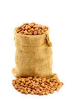Peanuts on white background Royalty Free Stock Photography