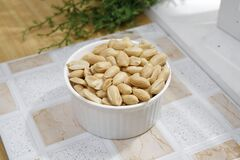 Peanuts in White Ceramic Bowl Royalty Free Stock Image