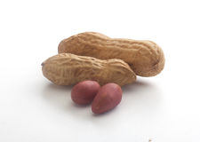 Peanuts on the white Royalty Free Stock Images