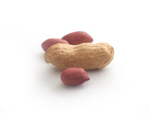 Peanuts on the white Stock Images