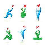 Peaple with hearts icons stock illustration
