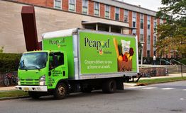 A Peapod grocery delivery truck Royalty Free Stock Image