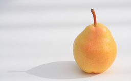 Pear. Bartlett pear basking in it's own afternoon shadow royalty free stock images