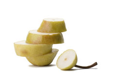 Pear. Part pears and folded in the form of steps royalty free stock photo