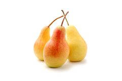 Pear. Frash pear  on a white background Royalty Free Stock Photography