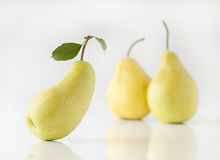 Pear. On white background in studio stock image
