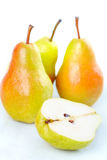 Pear. Over white backround. Fruits royalty free stock images