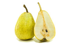 Pear. Ripe  pear isolated on white Stock Photos