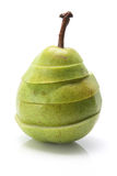 Pear. Sliced Pear on White Background Stock Photos