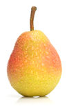 Pear 2. The wet ripe pear isolated on the white Stock Images