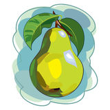 Pear. Painted in watercolor style Royalty Free Stock Photos