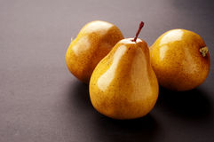 Pear. Sweet pear with gray background Stock Images