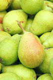 Pear. The close-up of green pear royalty free stock images