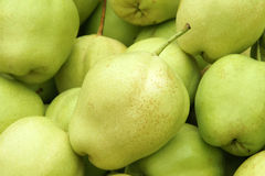 Pear. The close-up of green pear royalty free stock photo