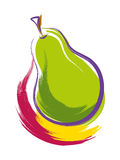 Pear. Vector illustration of a pear Royalty Free Stock Photography
