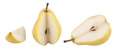 Pear. Yellow pear (Isolated On White Royalty Free Stock Image
