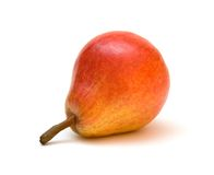 Pear 3. Ripe red pear lain on the white background stock photos