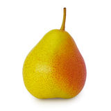 Pear. Single perfect pear on white background Stock Photography