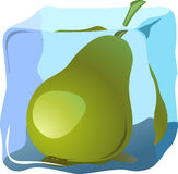 Pear. Fresh pear frozen in ice, illustrations vector Stock Photography