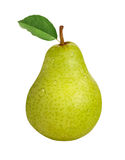 Pear. Isolated on a white background with a clipping path. Isolation is on a transparent layer in the PNG format stock photo