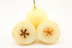Pear. Chinese pear on white bacground royalty free stock image