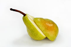 Pear. Is cutting into half royalty free stock image
