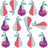 Pear abstract nature seamless pattern in . It is located i Stock Photos