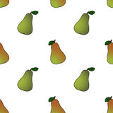Pear abstract seamless pattern Royalty Free Stock Photos