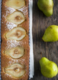 Pear and almond tart Royalty Free Stock Photo