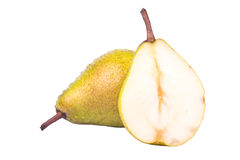 Pear And Half Royalty Free Stock Photography