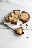Pear And Vanilla Custard Tarts Royalty Free Stock Photos