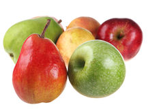 Pear and apple Stock Images