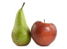 Pear and apple Royalty Free Stock Photos