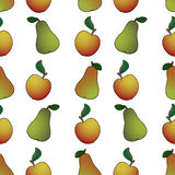 Pear apple abstract Royalty Free Stock Image
