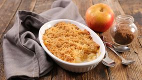 Pear and apple crumble royalty free stock image