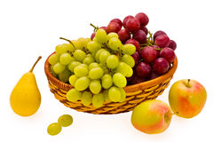 Pear apple and grape Stock Photography