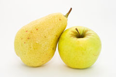 Pear and apple isolated Royalty Free Stock Image