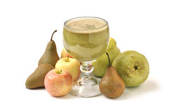Pear and apple juice Royalty Free Stock Photo