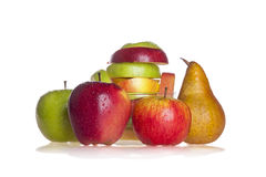 Pear and apples Stock Image
