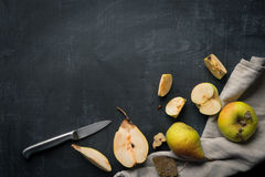 Pear and Apples food Background Royalty Free Stock Images